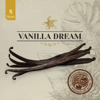 VANILLA DREAM Gourmet Vanilleschoten 5 Stück