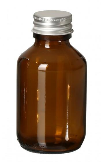 Glasflasche Braunglas leer 100ml