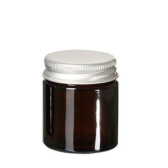 Glastiegel Braunglas leer 30ml