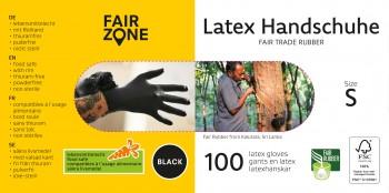 FAIR ZONE Black Foodgrade (lebensmittelecht) Rubber Gloves Small 100pc