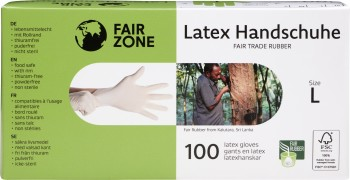 FAIR ZONE Einweg Latex Handschuhe Large 100pc