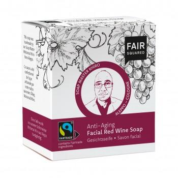 FAIR SQUARED Gesichtsseife Rotwein Anti-Age - 2x80gr.