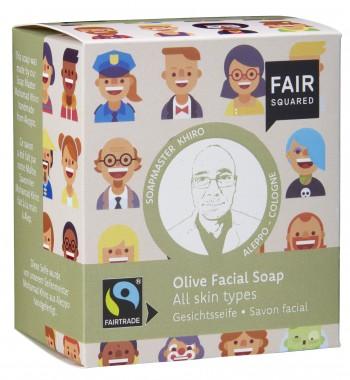 FAIR SQUARED Gesichtsseife Olive für alle Hauttypen - 2x80gr.