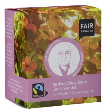FAIR SQUARED Körperseife Aprikose für sensible Haut - 2x80gr.