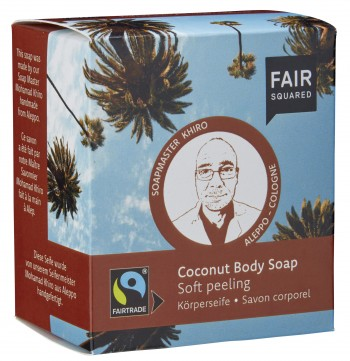 FAIR SQUARED Körperseife Coconut sanftes Peeling - 2x80gr.