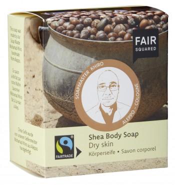 FAIR SQUARED Körperseife Shea für trockene Haut - 2x80gr.