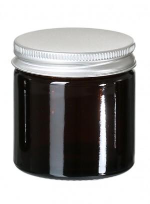 Glastiegel Braunglas leer 60ml