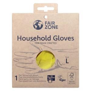 FairZone Paar Handschuhe Gelb - Grösse L