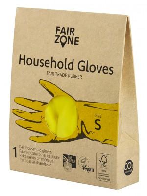 FairZone Paar Haushaltshandschuhe Gelb - Grösse S
