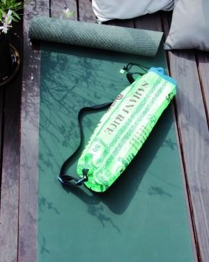 FAIRMOVE Yogamatte 3mm grün mit Baumwollwaben