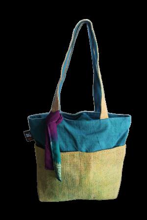 RICE & CARRY Jute - Einkaufstasche / Shopper Small