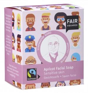 FAIR SQUARED Gesichtsseife Aprikose für sensible Haut - 2x80gr.