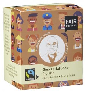 FAIR SQUARED Gesichtsseife Shea für trockene Haut - 2x80gr.