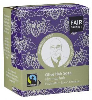 FAIR SQUARED Haarseife Olive für normales Haar - 2x80gr.
