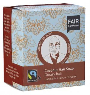 FAIR SQUARED Haarseife Coconut für fettendes Haar - 2x80gr.