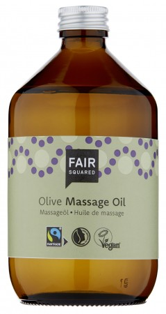 Fair Squared Massage Oil Olive 500ml ZEROWASTE