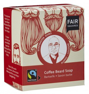 FAIR SQUARED Bartseife Coffee - 2x80gr.