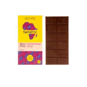 FAIRAFRIC 70% Schokolade Zartbitter Dunkel 80g