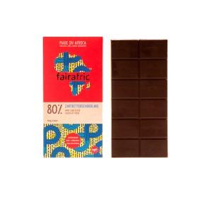 FAIRAFRIC 80% Schokolade Zartbitter Dunkel 80g