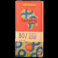 FAIRAFRIC 80% Schokolade Dunkel 100g