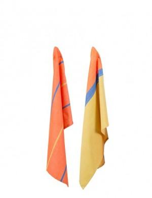 2er-Set Geschirrtücher 'Streifen' gelb/orange