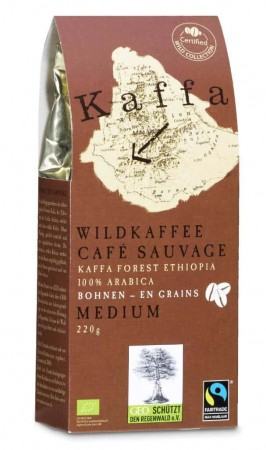 Kaffa Medium Bohnen 220g. Bio & Fairtrade