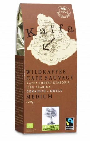 Kaffa Medium gemahlen 220g. Bio & Fairtrade