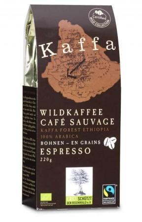 Kaffa Espresso Bohnen 220g. Bio & Fairtrade