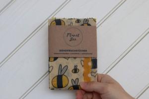"""PLANETBEE Bienewachstücher 3er Set S-M-L """"Biene"""""""