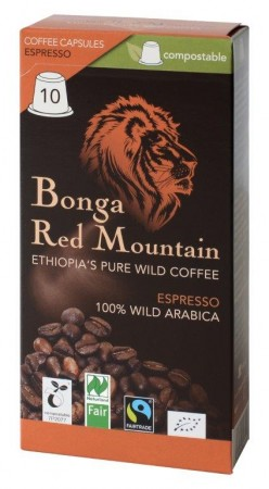 Bonga Red Mountain Espresso 10 Kapseln Bio Fairtrade