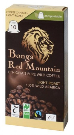 Bonga Red Mountain Light Roast 10 Kapseln Bio Fairtrade