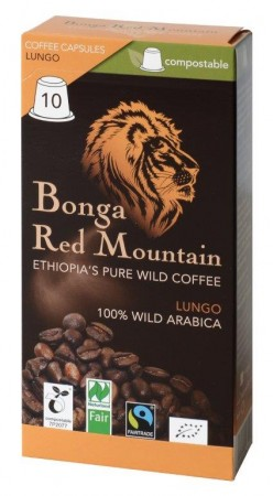 Bonga Red Mountain Lungo 10 Kapseln Bio Fairtrade