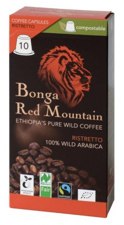 Bonga Red Mountain Ristretto 10 Kapseln Bio Fairtrade