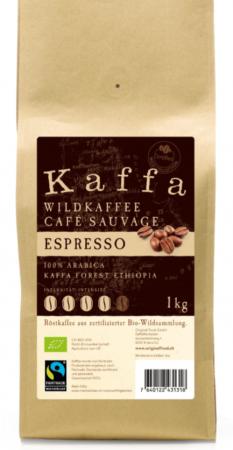 Kaffa Espresso Bohnen 1kg Bio & Fairtrade