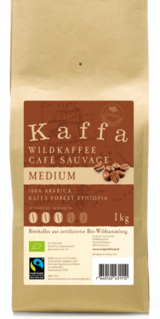 Kaffa Medium Bohnen 1kg Bio & Fairtrade