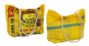 RICE & CARRY Strandtasche mit Kordeln