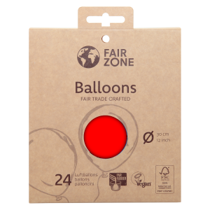 FairZone Ballon Rot 24pc.
