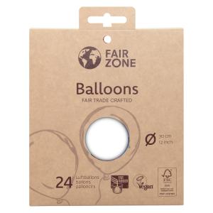 FairZone Ballon Weiss 24pc.